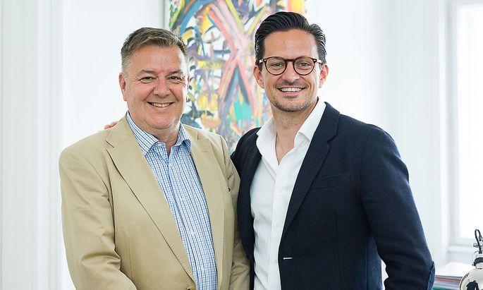Doppelporträt Vater und Sohn Haschke