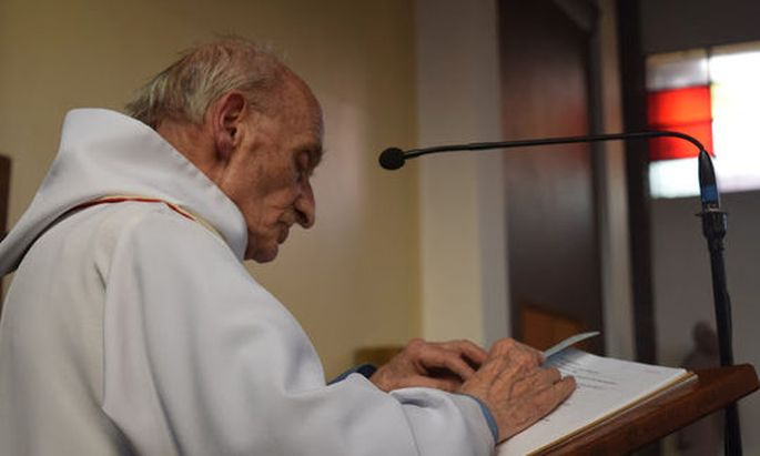 An undated photo shows French priest, Father Jacques Hamel of the parish of Saint-Etienne