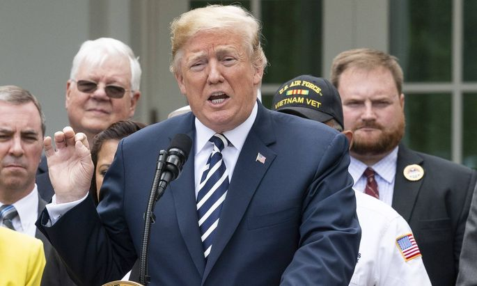 June 6 2018 Washington District of Columbia U S DONALD TRUMP at the signing ceremony for S 2