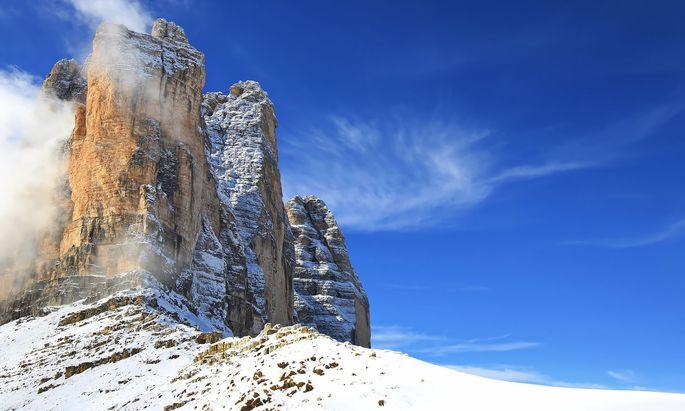 Symbolbild für Südtirol: die drei Zinnen