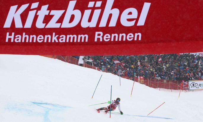 Archivbild Kitzbühel-Slalom