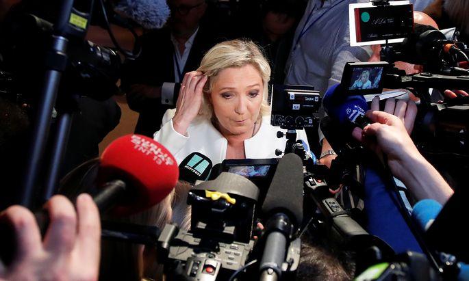 Macrons Partei blieb hinter den Rechtspopulisten von Marine Le Pen.