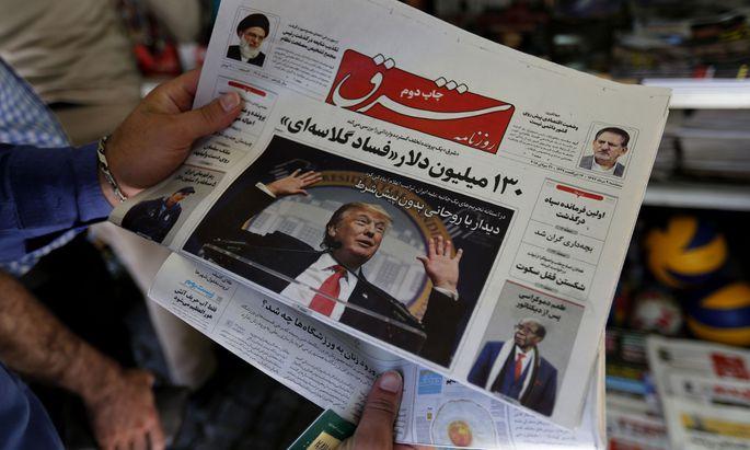 US-Präsident Donald Trump sorgt auch in den iranischen Medien für Schlagzeilen – und schickt die Landeswährung auf Talfahrt.
