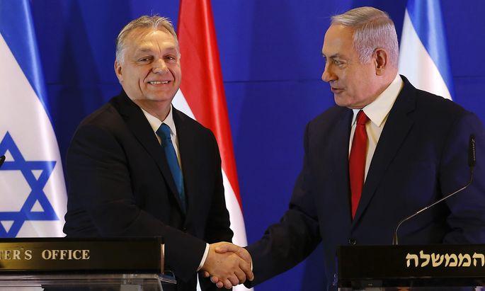 Viktor Orbán traf in Jerusalm Benjamin Netanjahu.
