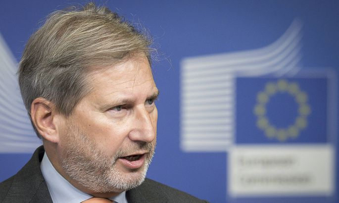Oct 8 2015 Brussels Bxl Belgium Johannes Hahn EU commissioner for Neighbourhood policy and