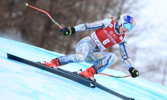 Ester Ledecka gewinnt erstmals ein Super-G-Weltcuprennen