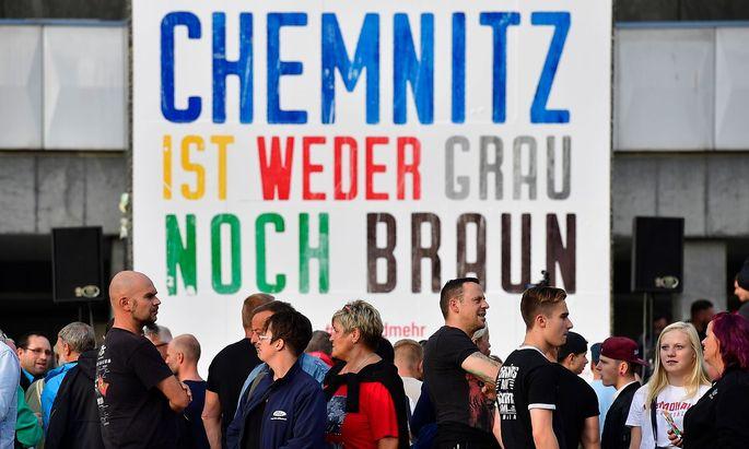 In Chemnitz kam es Ende August zu Demonstrationen und Ausschreitungen.