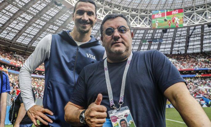 Nicht nur Partner, sondern Freunde: Zlatan Ibrahimovic und Berater Carmine Raiola.