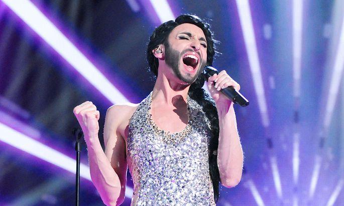 Österreich rockt den Song Contest Conchita Wurst bei der Song-Contest-Österreich-Ausscheidung 2013