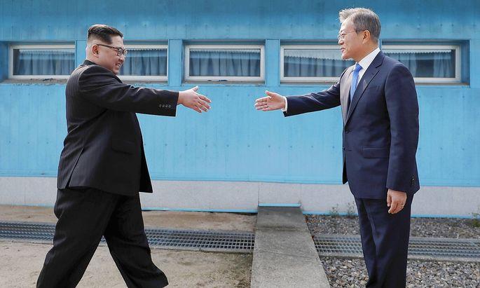 Das historische Treffen beider Koreas