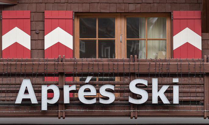 Eine Apes-Ski-Bar in Ischgl