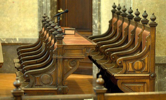 Im großen Schwurgerichtssaal des Straflandesgerichts Wien