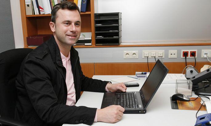 Norbert Hofer (42) kandidiert als Dritter Nationalratspräsident.