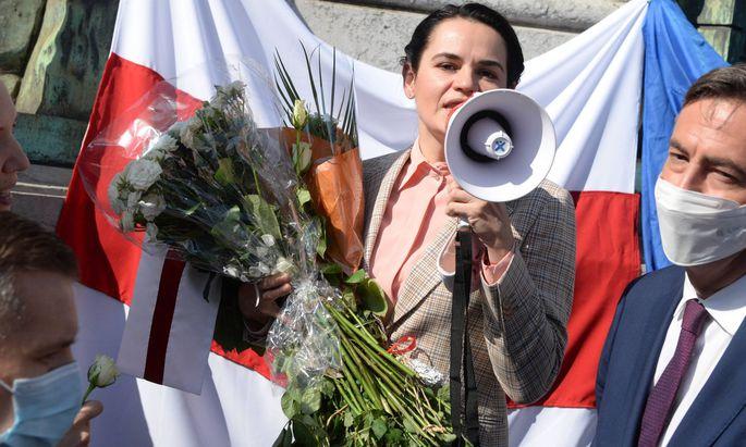 Archivbild von Oppositionsführerin Swetlana Tichanowskaja.
