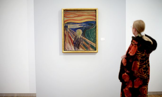 Wo kommt so eine Verzweiflung her, wie Munch sie vor Augen geführt hat? Kommt sie ganz tief aus dem Leib?