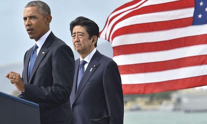 Obama und Abe.