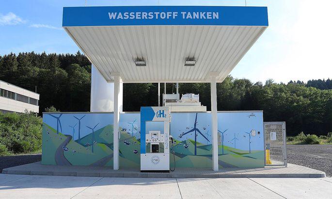 Archivbild: Eine Wasserstoff-Tankstelle im deutschen Siegen