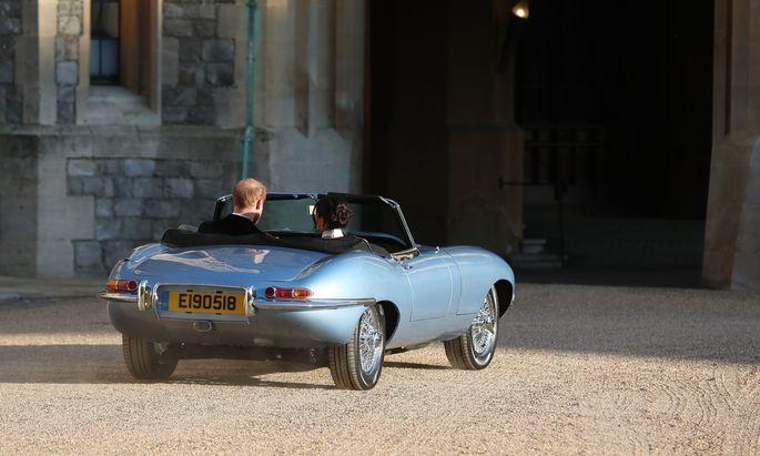 Noch gehört der Jaguar zur britischen Identität – auch für Prinz Harry und seine Frau, Meghan –, aber wie lange noch?