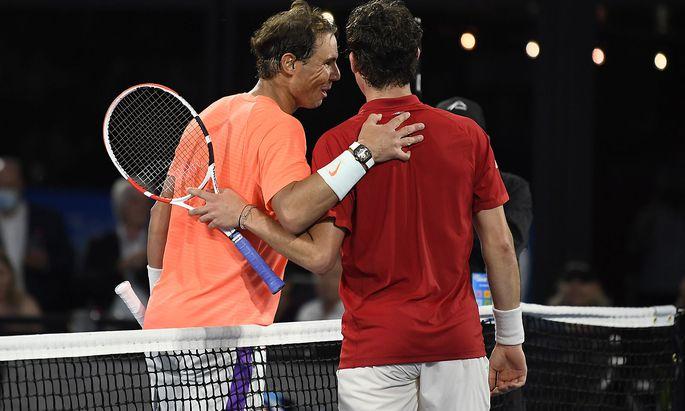Rafael Nadal (li.) wird auch 2021 einer von Thiems Gegnern sein, die es zu schlagen gilt.