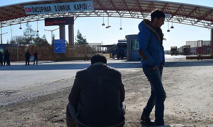 Grenzübergang zur Türkei in Syrien.