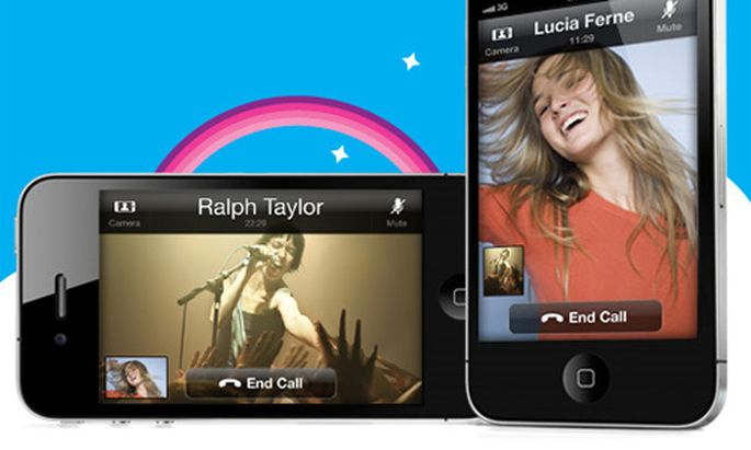 Skype fuer iPhone mit Video-Telefonie