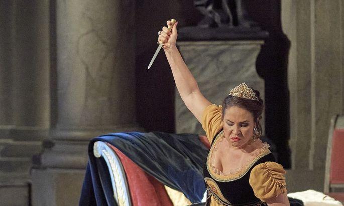 Trotz Messer – die Liebende gab sich eher zahm: Sonya Yoncheva mit Ambrogio Maestri als Scarpia.