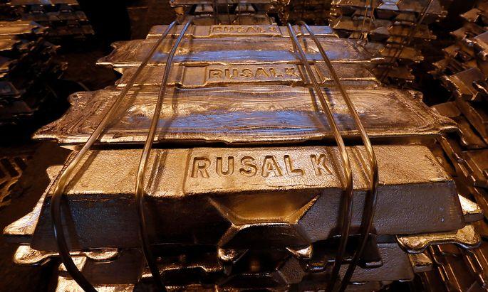Archivbild: Ware des weltweit zweitgrößten Aluminiumkonzern Rusal
