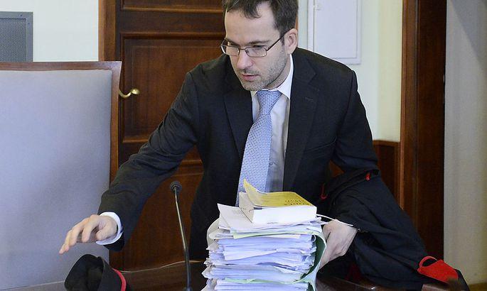 Staatsanwalt Johannes Windisch vor Beginn der Verhandlung am Dienstag.