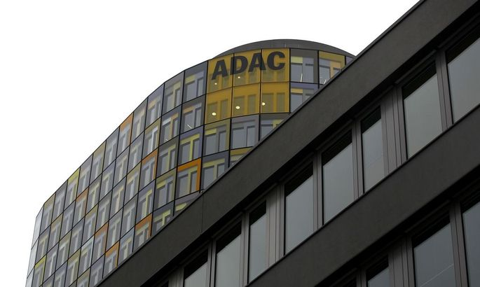 ADAC headquarters office tower is pictured in Munich