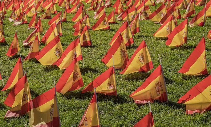 Spanische Fahnen (Symbolbild).