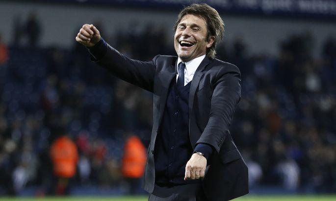 Chelsea-Trainer Antonio Conte hat aktuell viel Anlass zur Freude.