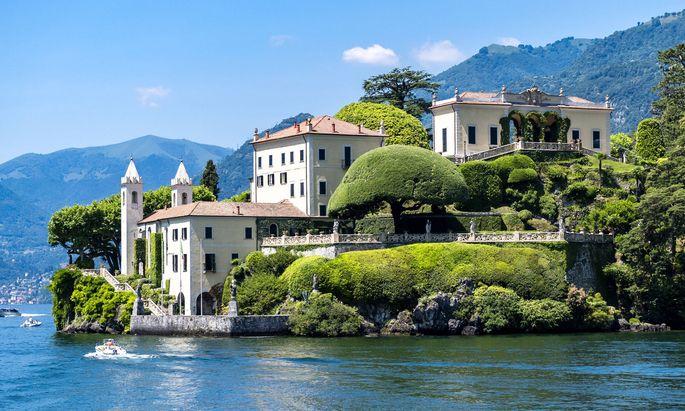 Am Comer See: Die Villa del Balbianello befindet sich in prominenter Lage: in Lenno, an der Punta di Lavedo.