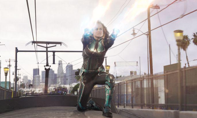 Captain Marvel (Brie Larson) hat beachtliche Superkräfte – doch leider kaum ikonischen Charakter. Ihre altklugen Sprüche können das nicht wettmachen.