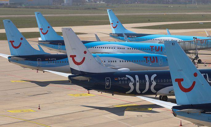 TUI hat fast alle Flüge eingestellt.