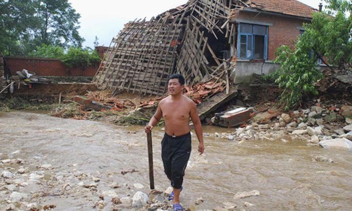Hochwasser China Fluten bedroht