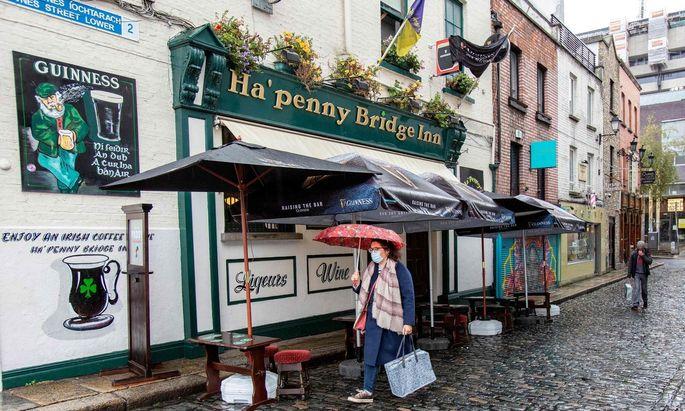 Ein Pub in Dublin. Die Gastronomie in Irland muss erneut in den Lockdown-Modus.