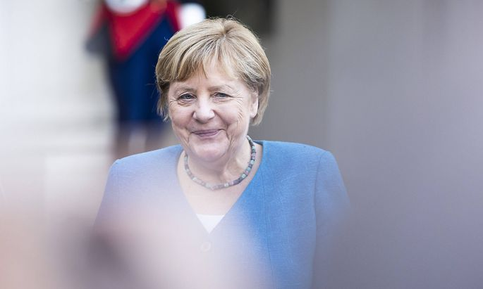 Angela Merkel bei ihrem Abschiedsbesuch in Paris am 16. September 2021.