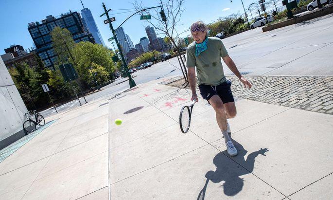 Es muss nicht immer Flushing Meadows sein. Tennis ist in New York allerorts präsent.