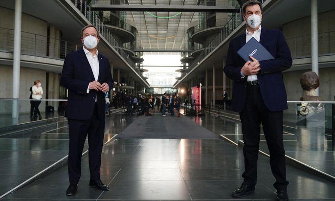 Armin Laschet und Markus Söder arbeiten gerade in Berlin daran, eine Ampelkoalition wahrscheinlicher zu machen.
