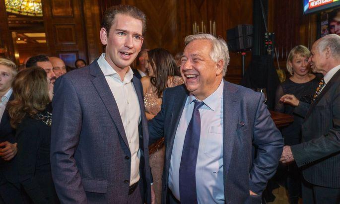 Wie weit ging denn die mutmaßliche Zweckgemeinschaft von Sebastian Kurz (li.) und Wolfgang Fellner? Fragt sich Österreich derzeit.