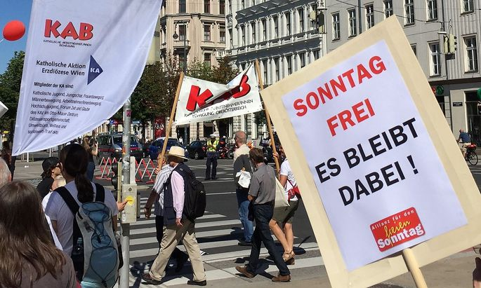 Protest der Katholischen Aktion Ende November in Wien.