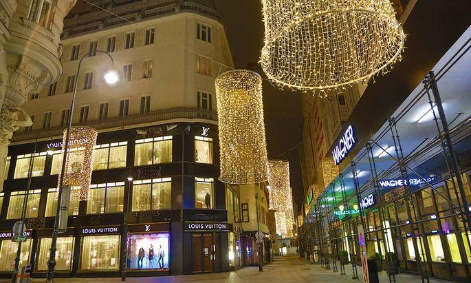 Covid 19: Wien vor dem 2 harten Lockdown Wien, 13.11.2020 Golden Quarter Goldenes Quartier Flagshipstores Luxus-Shoppin