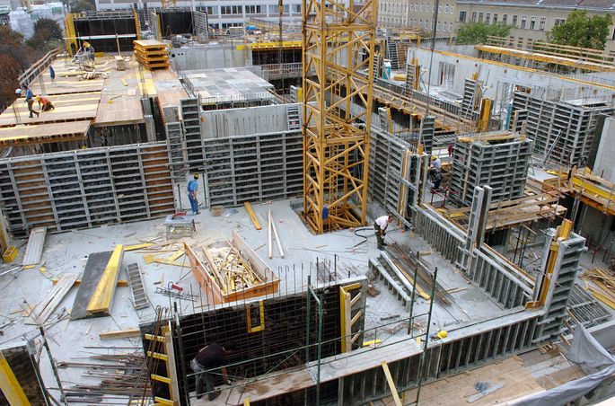 Baustelle in Wien