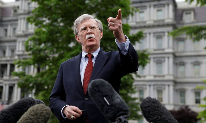 Bolton speaks at the White House in Washington