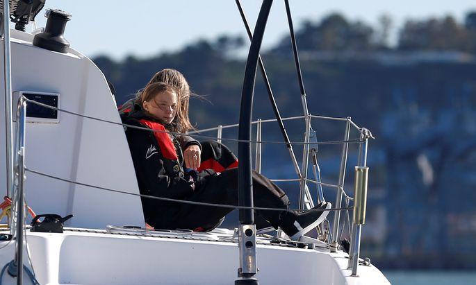 Reisen wie Greta Thunberg: mit dem Boot, mit dem Zug.