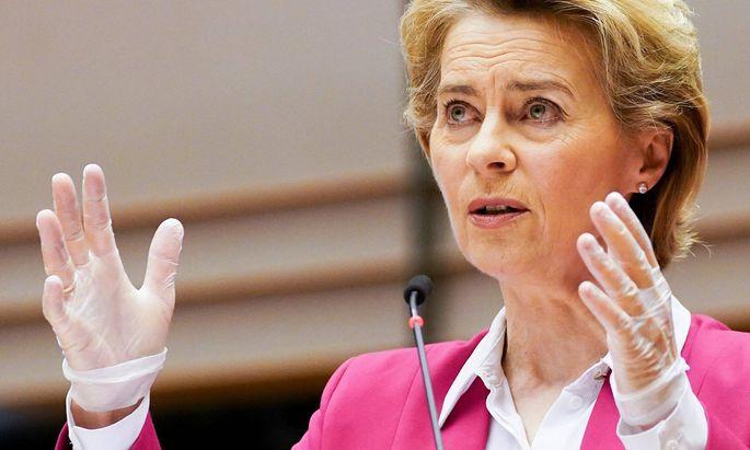 EU-Kommissionschefin Ursula von der Leyen: Auf dem Weg zur Transferunion ohne passende Strukturen.