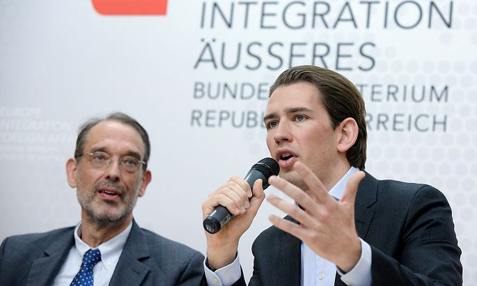 Heinz Faßmann (l.), und Sebastian Kurz
