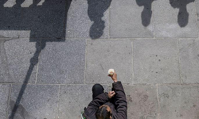 Am meisten sind Menschen in Bulgarien von Armut bedroht.