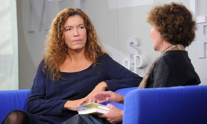 Archivbild von Anne Weber auf der Frankfurter Buchmesse im Jahr 2012.
