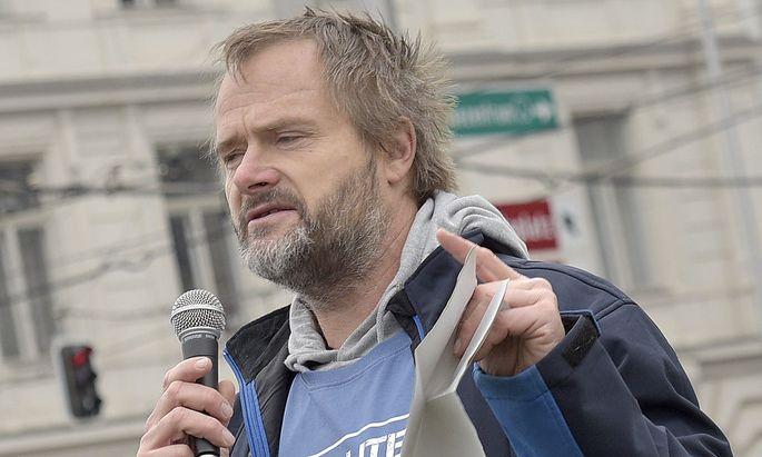 Archivbild: Martin Balluch bei einer VGT-Veranstaltung im November
